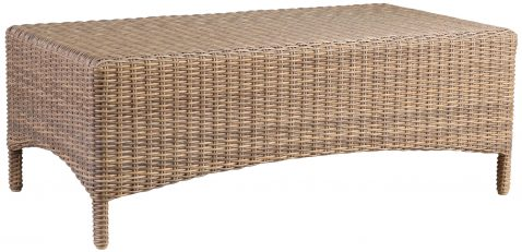 Block & Chisel rectangular rattan coffee table