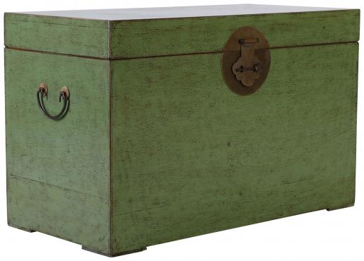Block & Chisel green distressed wooden kist