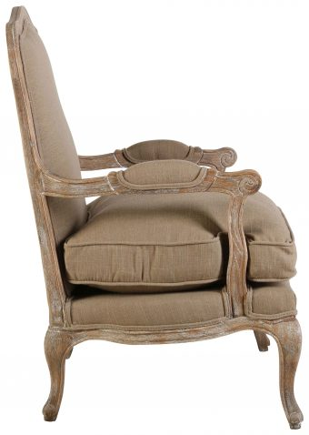 Block & Chisel beige upholstered Beauvais chair