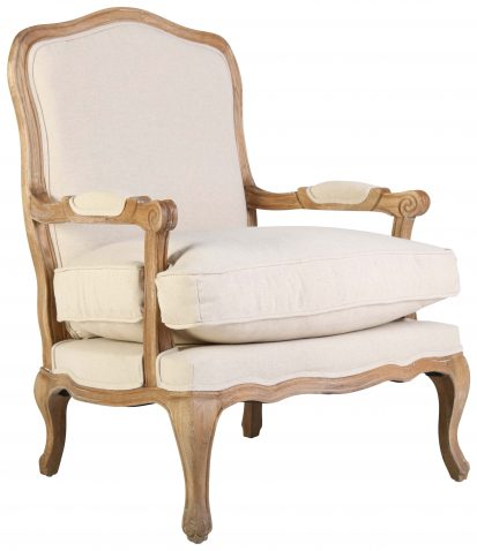 Block & Chisel linen upholstered Beauvais chair