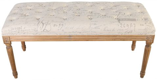 Block & Chisel print upholstered bedend