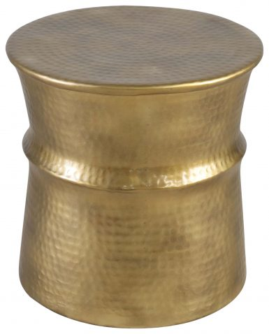 Block & Chisel round antique brass side table