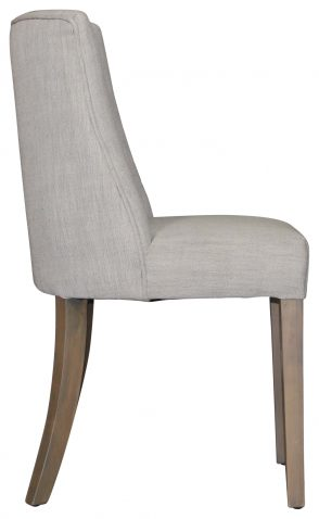 Block & Chisel upholstered dining chair with birch wood legs