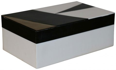 Block & Chisel abstract black and white box with gold foil