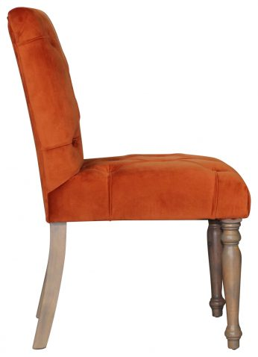 Block and Chisel Dining Chair Velvet Upholstery birch wood legs