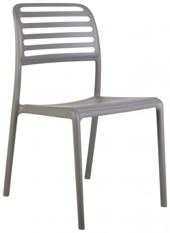 Block & Chisel grey PVC slated back dining chair