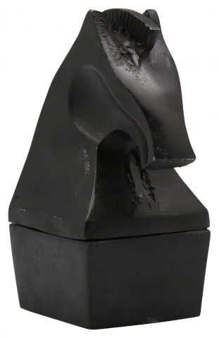 Block & Chisel black horse decor