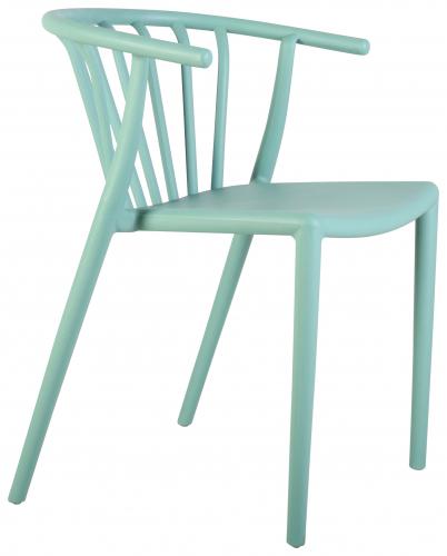 Block & Chisel green PVC horseshoe back chair