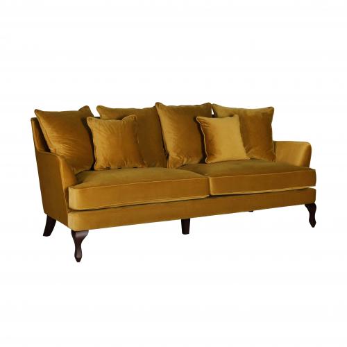 monroe 3 seater sofa in gold velvet
