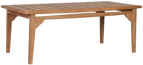 Block & Chisel rectangular teak wood coffee table with slate top