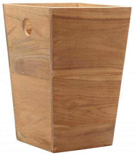 Block & Chisel square teak wood bucket