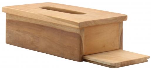 Block & Chisel teak wood tissue box