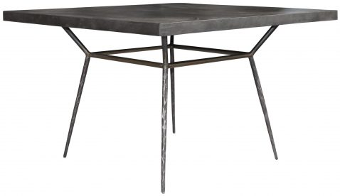 Block & Chisel concrete dining table with iron base