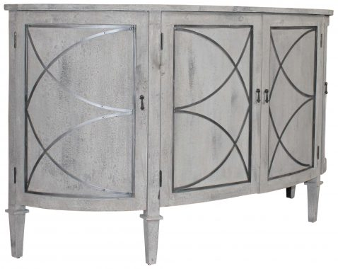 Block & Chisel grey and antique silver recycled pine sideboard