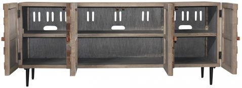 Block & Chisel recycled elm cabinet with iron legs