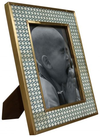 Block & Chisel bone with brass cladding photo frame