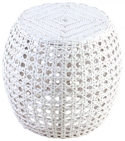 Block & Chisel white rattan side table