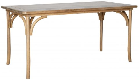 Block & Chisel rectangular oak wood dining table