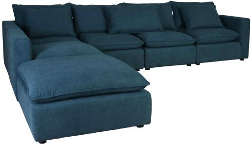 Block & Chisel blue upholstered corner sofa