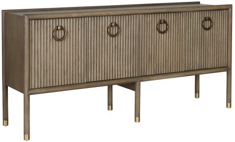 Block & Chisel wooden sideboard with round brass handles