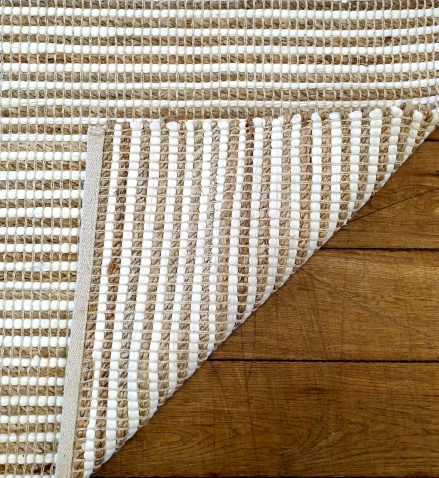 Block & Chisel natural striped rug or carpet