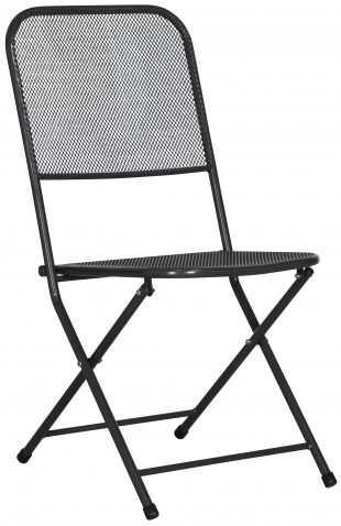 Block & Chisel grey metal outdoor dining chair