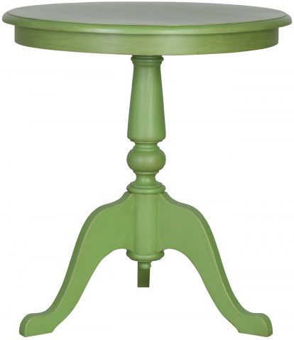 Block & Chisel round green lamp table