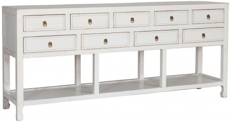 Block & Chisel white oriental inspired sideboard
