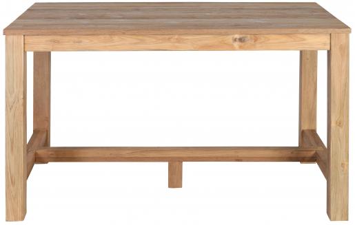 Block & Chisel rectangular reclaimed teak bar table