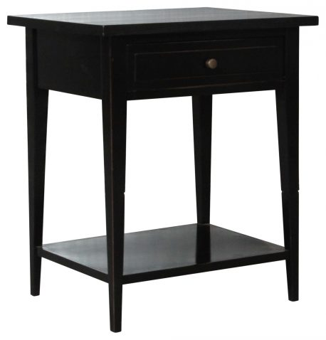 Block & Chisel Bedside table wrigley black lacquered