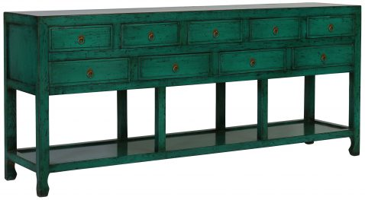 Block & Chisel green oriental inspired sideboard
