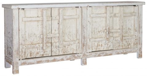 Block & Chisel antique white wooden oriental inspired sideboard