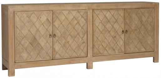 Block & Chisel oriental inspired old pine sideboard
