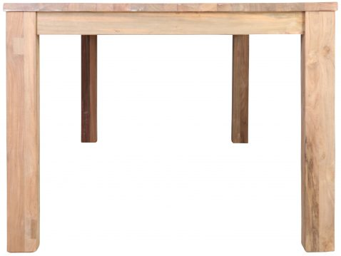 Block & Chisel rectangular reclaimed teak wood dining table