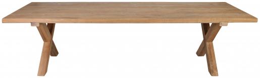 Block & Chisel rectangular reclaimed teak dining table