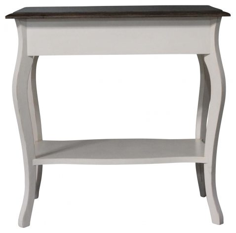 Block & Chisel Braines bedside table 1 draw Antique weathered oak top antique white base