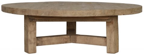 Block & Chisel round old pine oriental inspired coffee table
