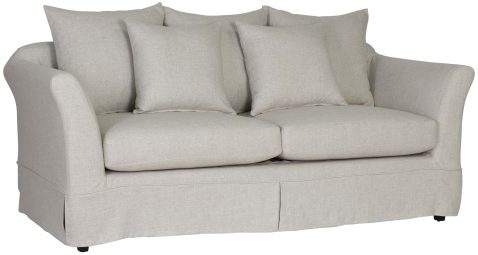 Block & Chisel Yale linen upholstered 2.5 seater sofa