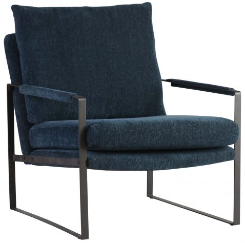 Block & Chisel navy blue upholstered occasional chair