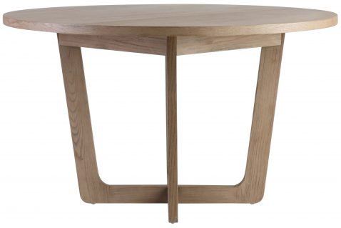 Block & Chisel round wooden dining table