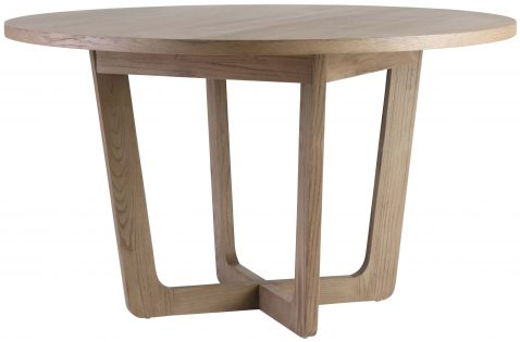 Block & Chisel round elm wood dining table