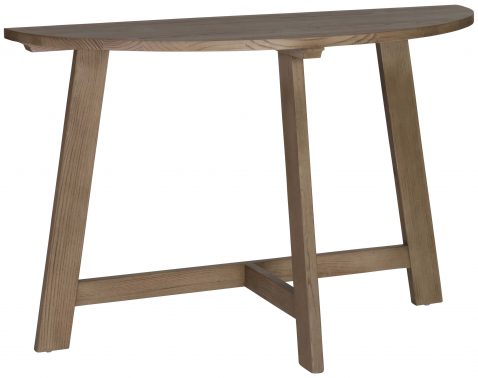 Block & Chisel elm wood half moon table
