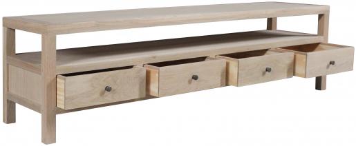 Block & Chisel rectangular natural wooden tv unit