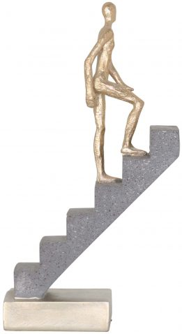 Block & Chisel polyresin climbing stairs statue