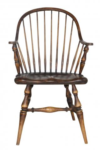 Block & Chisel cherry brown wooden armchair