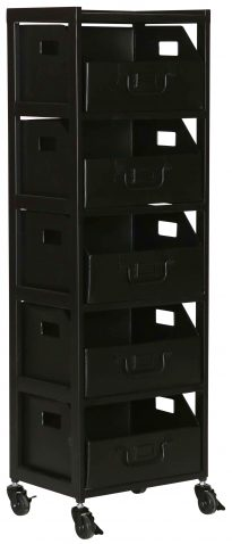 Block & Chisel black iron filing cabinet
