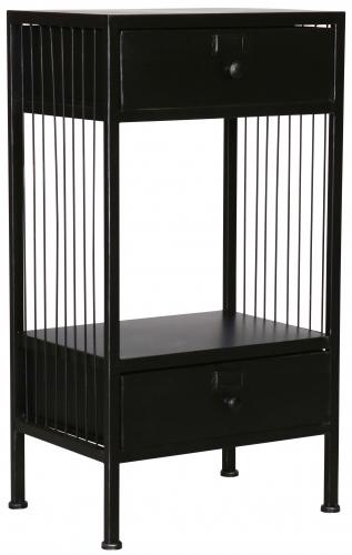 Block & Chisel black iron bedside table