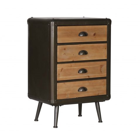 Block & chisel Industrial style bedside cabinet chest