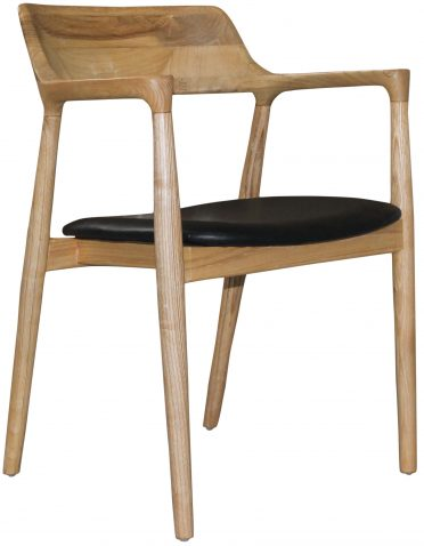 Block & Chisel ebony sungkai wood dining chair