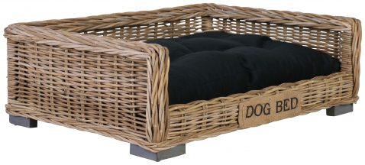 Block & Chisel kubu rattan pet basket bed with cushion